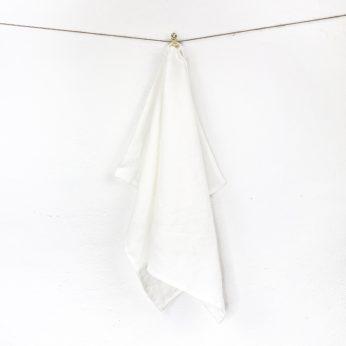 Leinen Geschirrtuch Tilda Weiß