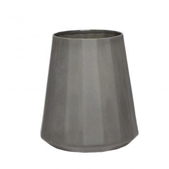 Porzellan Vase Grau