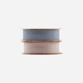 Geschenkband Sand/blau