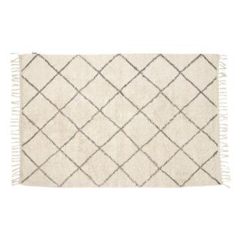 Teppich Weiß/ Grau
